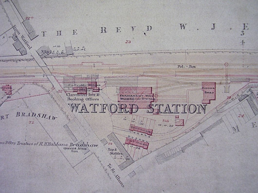 This undated plan of Watford Station seems